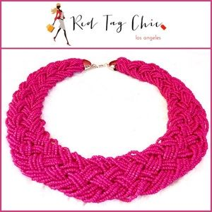Jewelry - 🎀✨ Hot Pink Beaded Choker Necklace ✨🎀