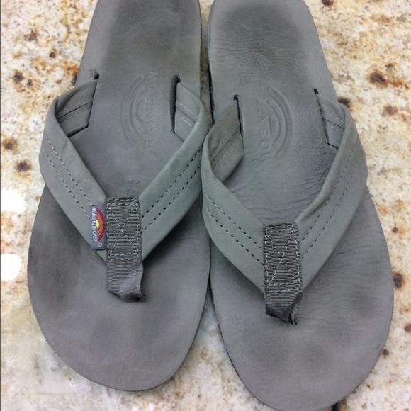 Rainbow Shoes Grey Flip Flops Poshmark