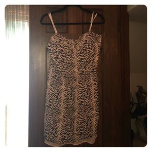 BCBGeneration Pink Zebra Dress