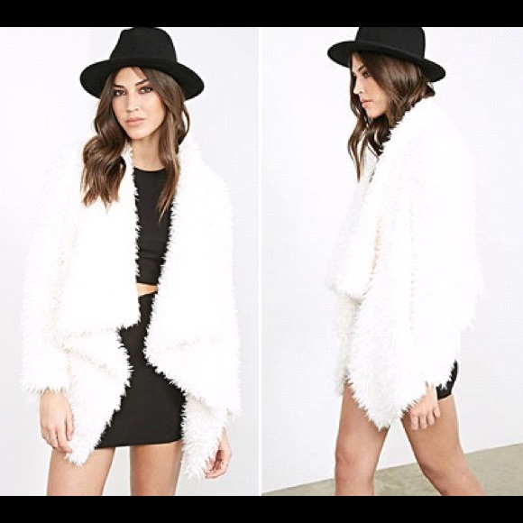 13% off Forever 21 Jackets & Blazers - Draped Faux Fur Shearling ...