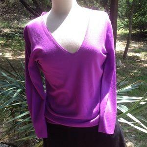 J. Crew 100% Merino Wool Thin V-Neck Sweater