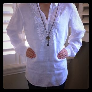 Talbots Tops - Talbots White Beach Resort Tunic
