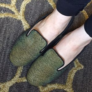 Modern Vice Shoes - Green stingray loafer