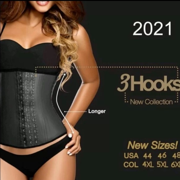 Ann Chery 2025 Classic Latex Waist Cincher Black,5XL//46
