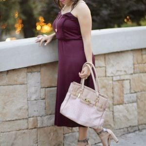 H&M Dresses & Skirts - Burgundy slip-like dress