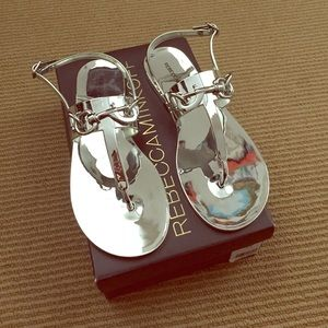 Rebecca Minkoff Jelly Sandals in silver