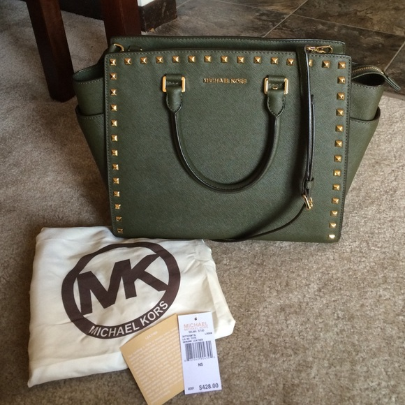 4a09b533c92f ... THIS ITEM IS SOLD! Studded olive green MICHAEL by Michael Kors Selma.  M_5574c2fc2de512554e007022. Other Bags you may like
