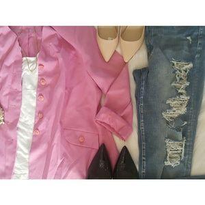 Vintage Plus Size Pink Blazer