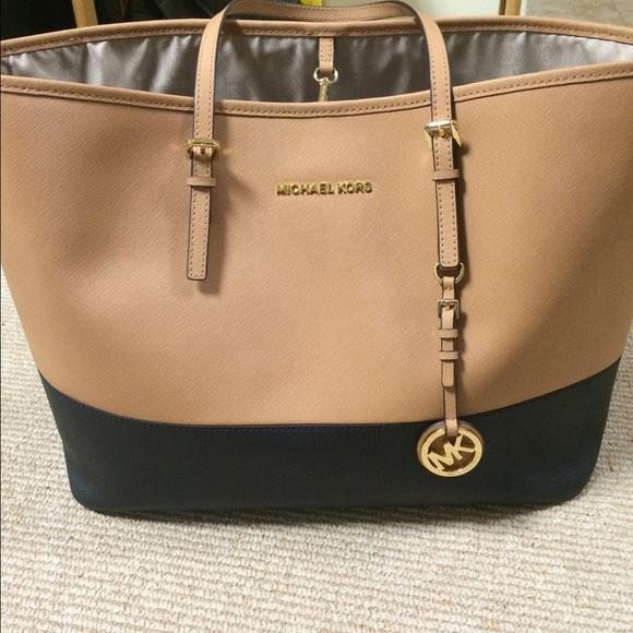 where to buy hermes - 33% off Michael Kors Handbags - Michael Kors two toned tan and ...