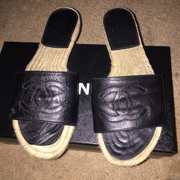 39 Off Chanel Shoes Authentic Chanel Flip Flops From