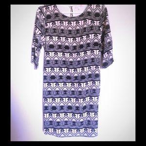 Tribal print Chevron Dress