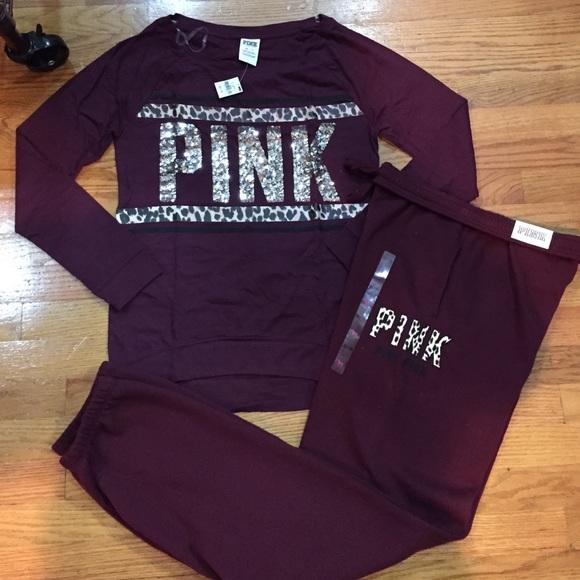 PINK Victoria's Secret - Victoria's Secret Pink Maroon shirt and ...