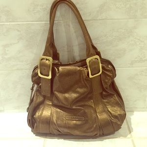 Cole Haan bronze handbag