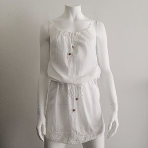 Dresses & Skirts - White Beach Cover Up Dress with Lace and Ties