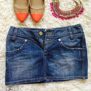 Reef Dresses & Skirts - Reef Distressed Denim Skirt!