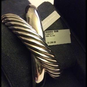 David Yurman Jewelry - David Yurman Crossover X Cuff Bracelet