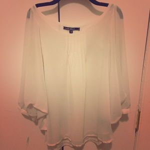 Sheer white chiffon blouse