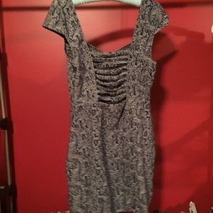 Brocade Denim Bandage Dress