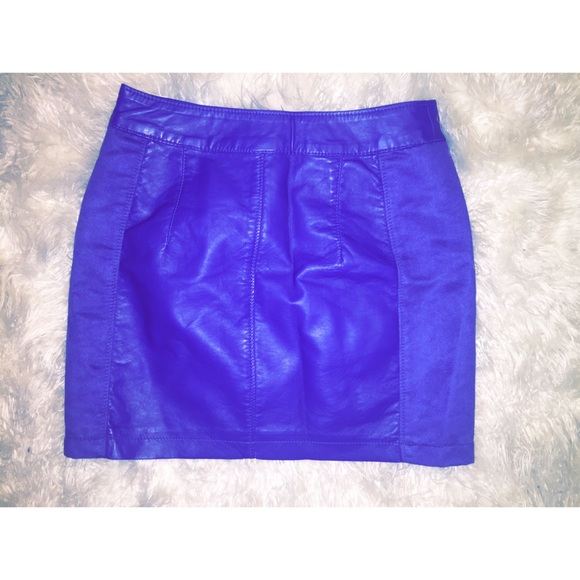 H&M Skirts - Colbalt Blue suede/leather mini skirt