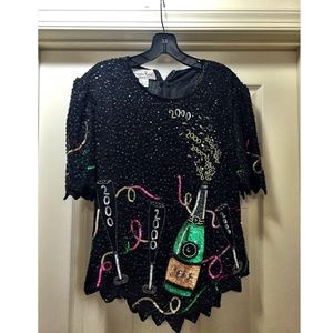 Tops - Vintage Sequin blouse