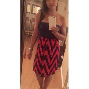 5th & Love Navy and Fuschia Tube Dress