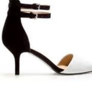 Zara 6.5 black and white low heels