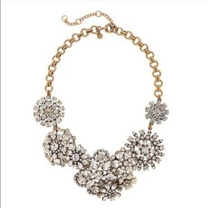 NWT J. Crew Flower Lattice statement necklace
