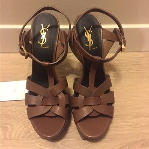 Yves Saint Laurent Shoes - YSL tribute brown shoes.Authentic. New. Size 8.5