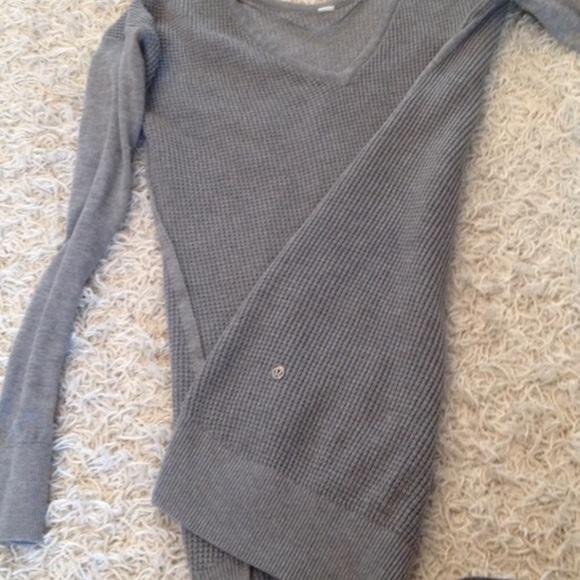 b0d1911e5815 lululemon athletica Tops - Lululemon grey thermal waffle knit sweater