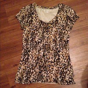 Merona cheetah print top