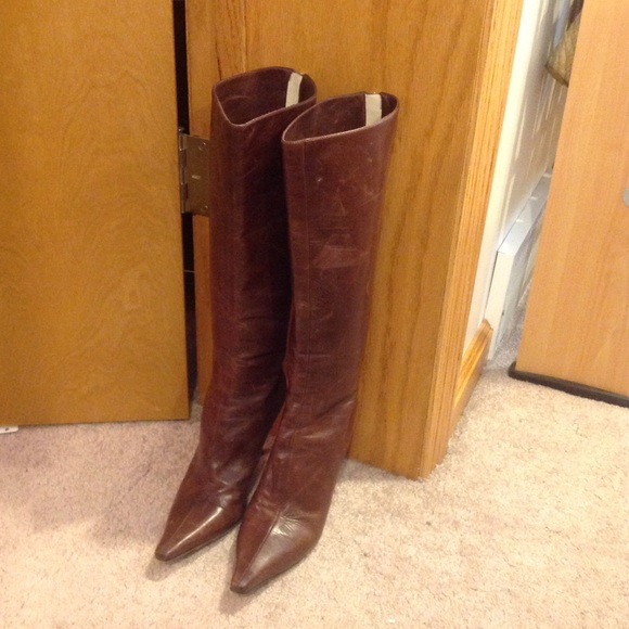7e8be55bf900 Jimmy Choo Shoes - Jimmy Choo Brown Stiletto Boots