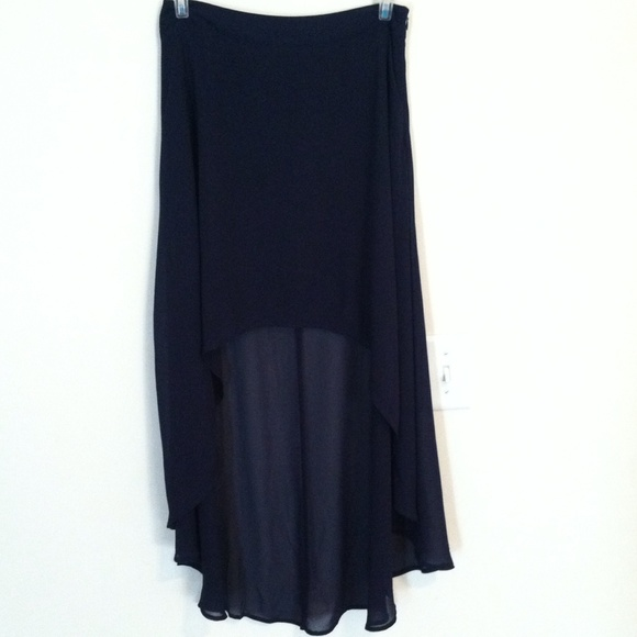 50 forever 21 dresses skirts navy blue high low