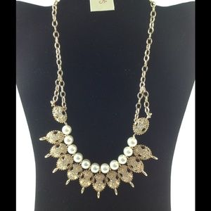 Macy's Necklace, Gold-Tone Frontal Necklace