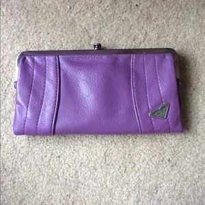 Purple Roxy 3 section wallet
