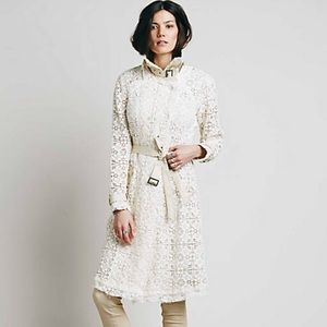 Lace Trench Coat Free People