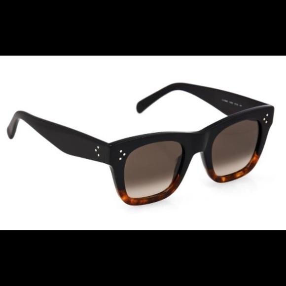 7b033f30511e Celine Shadow Sunglasses Black Tortoise