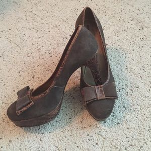 Anthropologie Shoes - Anthropologie Schuler and sons brown heels 7 1/2
