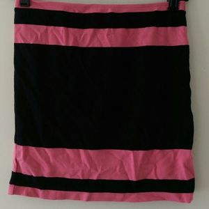 Pink and black pencil skirt