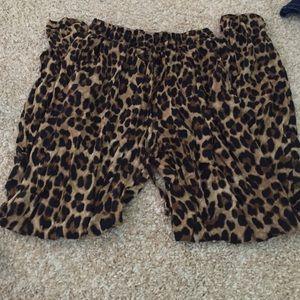 Leopard print jogger type pants