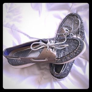 Gray sparkly Sperry's!