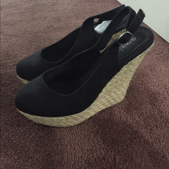 77 shoes sale black closed toe wedge from s