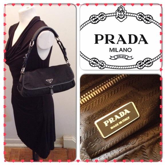 ... new style prada blk tessuto nylon front flap shoulder bag 3064a 306fe 8cd185ca4b513