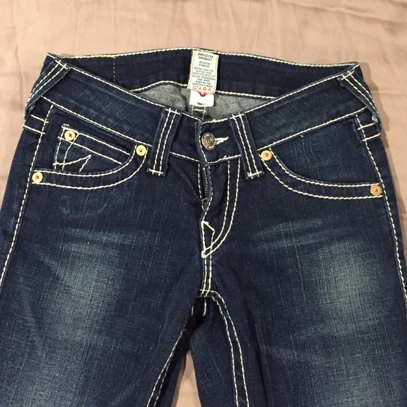 76 off true religion denim true religion jeans with white stitching size 27 from erika 39 s. Black Bedroom Furniture Sets. Home Design Ideas