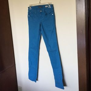 Anthropologie Denim - Level 99 Lily Skinny Straight Dark Turquoise Jeans