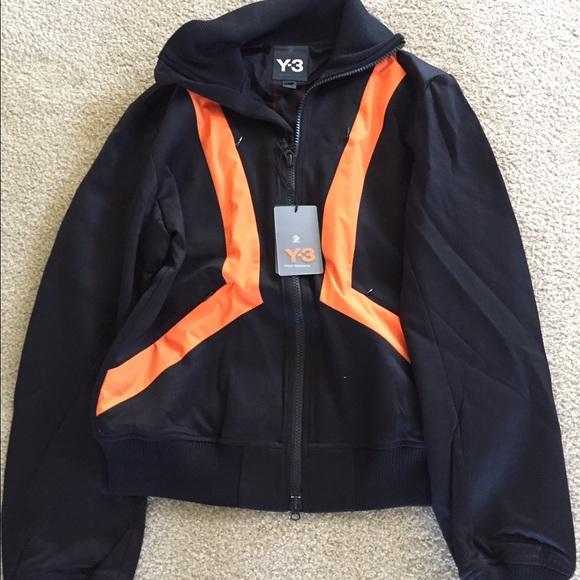 Y3 amp; Jackets Adidas Black Tracksuit Mens Jacket Orange Coats n4AqxU