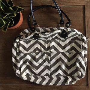 Handbags - Chevron Bowler Bag