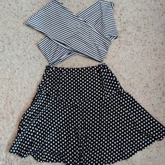 75 dresses skirts polka dot skirt high waisted