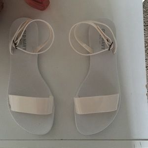 Old Navy Shoes - White ankle strap sandals