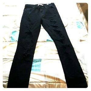 Denim - High Rise Destroyed Jeans