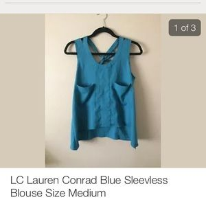 Lc lauren Conrad blue sleeveless top size m